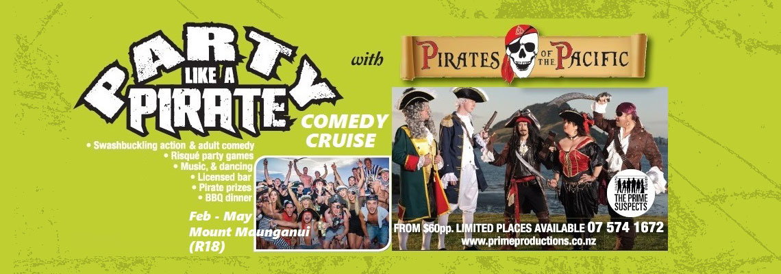 Adults pirate party cruise